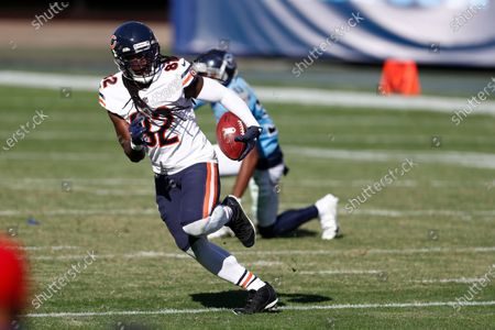 Chicago Bears wide receiver Dwayne Harris (82) plays against the Tennessee Titans in the first half of an NFL football game, in Nashville, Tenn