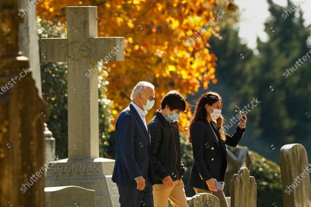 Editorial picture of President-elect Joe Biden, daughter Ashley Biden, grandson Hunder Biden attend church Wilmington, DE, Wilmington, Delaware, Usa - 08 Nov 2020