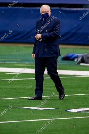 Dallas Cowboys owner Jerry Jones looks on before an NFL football game against the Pittsburgh Steelers, in Arlington, Texas. Pittsburgh won 24-19