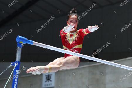 Jin Zhang (Team Solidarity) - Artistic Gymnastics :  2020 Friendship and Solidarity Competition  Women's Uneven Bars   at 1st Yoyogi Gymnasium, Tokyo, Japan.