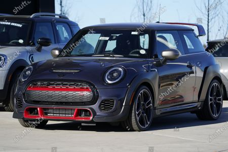 An unsold 2021 John Cooper Works GP sits at a Mini dealership, in Highlands Ranch, Colo