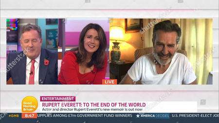 Piers Morgan, Susanna Reid and Rupert Everett