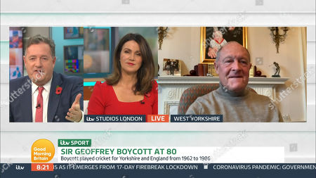 Piers Morgan, Susanna Reid and Sir Geoffrey Boycott