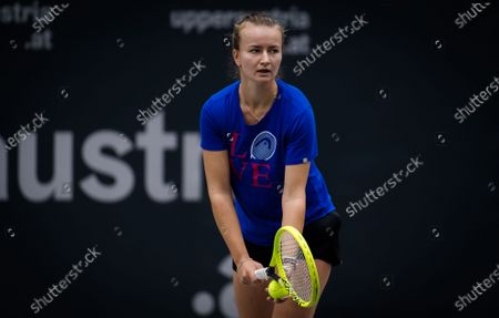 Stock Picture of Barbora Strycova of the Czech Republic during practice at the 2020 Upper Austria Ladies Linz WTA International tennis tournament