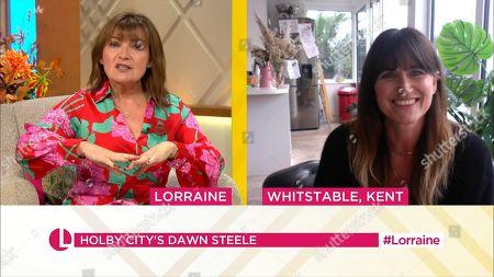 Lorraine Kelly and Dawn Steele