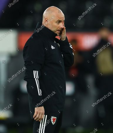 Stock Image of Wales interim manager Rob Page, who leads the side in the absence of Wales manager Ryan Giggs