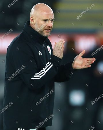 Wales interim manager Rob Page, who leads the side in the absence of Wales manager Ryan Giggs