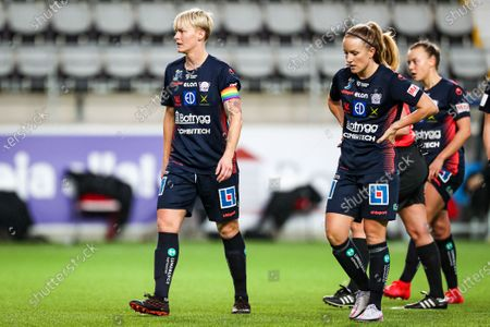 Nilla Fischer (#5) and Petra Johansson (#12)