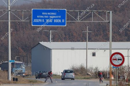 Editorial image of National road named after elected US President Joe Biden late son, Joseph R. 'Beau' Biden, III, in Kosovo, Sojevo, Serbia - 09 Nov 2020