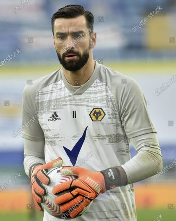 Wolverhampton Wanderers' goalkeeper Rui Patricio during the English Premier League soccer match between Leicester City and Wolverhampton Wanderers at the King Power Stadium in Leicester, England