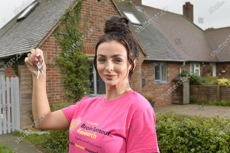 Stock Image of Love Island's Kady McDermott is fronting the raffle of a £475k Sussex beach home, which is up for grabs in a prize draw for just £2.50 a ticket, to raise vital funds for Brain Tumour Research after Kady lost her grandmother Maureen King to the disease in 2009.