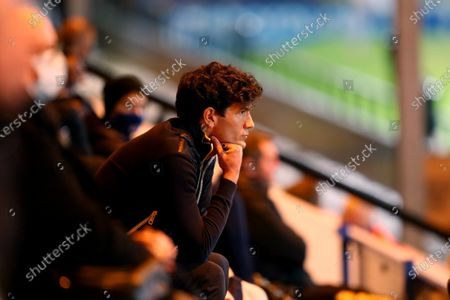 Rochdale manager Brian Barry-Murphy watches the game from the stands