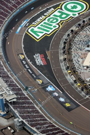 Aerial view of Phoenix Raceway where racing legend, Jimmie Johnson make his final race at the age of 45
