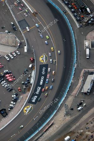 Stock Picture of Aerial view of Phoenix Raceway where racing legend, Jimmie Johnson make his final race at the age of 45