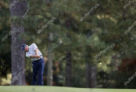 Fred Couples of the US hits from the fairway on the fifteenth hole during the first practice round of the 2020 Masters Tournament at the Augusta National Golf Club in Augusta, Georgia, USA, 09 November 2020. After being delayed seven months by the coronavirus pandemic, the 2020 Masters Tournament is being held without patrons 12 November through 15 November.