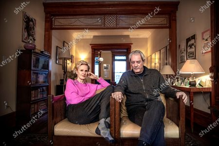Writers Siri Hustvedt and Paul Auster at home in Brooklyn. They are both active in the Writers Against Trump movement.