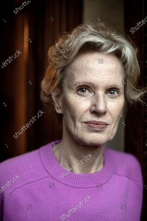 Writer Siri Hustvedt at home in Brooklyn. They are both active in the Writers Against Trump movement.