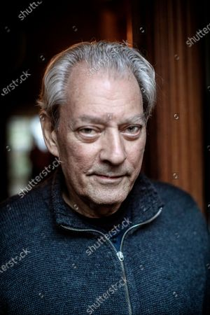 Stock Picture of Writer Paul Auster at home in Brooklyn. They are both active in the Writers Against Trump movement.