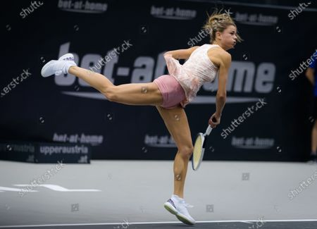 Stock Image of Camila Giorgi of Italy in action during the first round at the 2020 Upper Austria Ladies Linz WTA International tennis tournament
