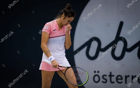 Sara Sorribes Tormo of Spain in action during the first round at the 2020 Upper Austria Ladies Linz WTA International tennis tournament