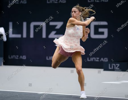 Camila Giorgi of Italy in action during the first round at the 2020 Upper Austria Ladies Linz WTA International tennis tournament