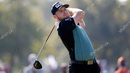 Tyrrell Hatton during the second round of the Houston Open golf tournament, in Houston