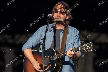 Singer Songwriter Hayes Carll performs during the Long Live Music event on the lawn at the Long Center