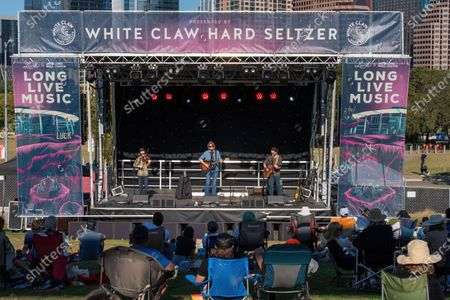 Stock Picture of Singer Songwriter Hayes Carll performs during the Long Live Music event on the lawn at the Long Center