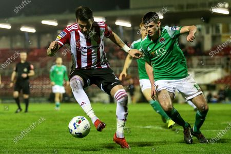 Cork City vs Derry City. Derry City's Adam Hammill and Ronan Hurley of Cork City