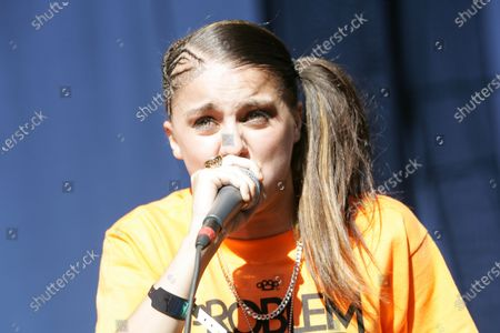 Lady Sovereign performs at Lollapalooza in Chicago, IL.