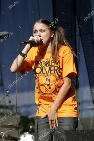 Stock Image of Lady Sovereign performs at Lollapalooza in Chicago, IL.