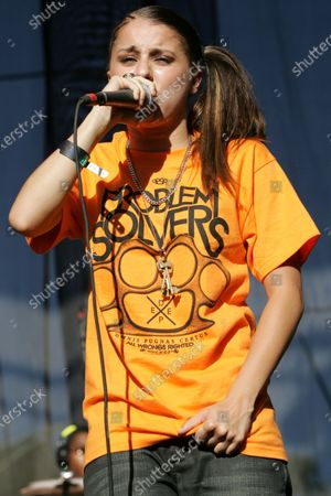 Stock Photo of Lady Sovereign performs at Lollapalooza in Chicago, IL.