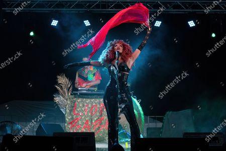 Editorial picture of Love & Lightstream drive-in concert, Haute Spot, Cedar Park, TX USA - 07 Nov 2020