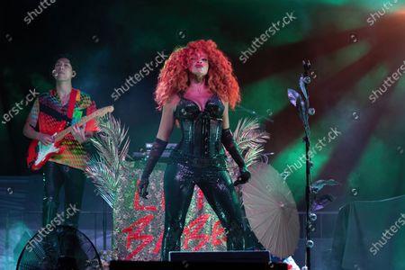 Editorial photo of Love & Lightstream drive-in concert, Haute Spot, Cedar Park, TX USA - 07 Nov 2020