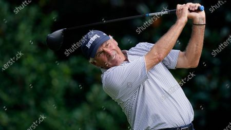 Fred Couples on the 11th tee during a practice round for the Masters golf tournament, in Augusta, Ga