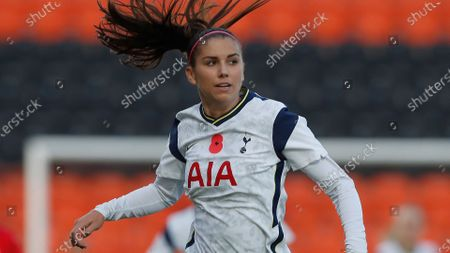 Tottenham Hotspur's Alex Morgan comes on as a substitute during the English Women's Super League soccer match between Tottenham Hotspur and Reading at the Hive stadium in London . Morgan came on as a 69th minute substitute, the game ended in a 1-1 draw