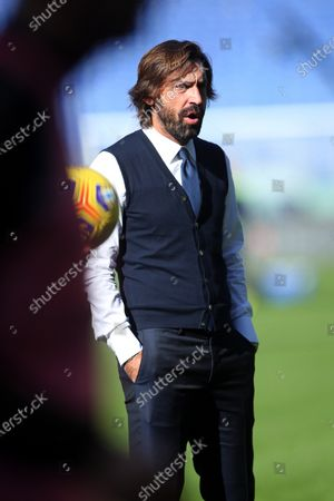 Rome, Italy - 08/11/2020: Andrea Pirlo (COACH JUVENTUS) during training before the Italian Serie A league 20/21 soccer match between SS LAZIO and FC JUVENTUS, at Olympic Stadium in Rome.