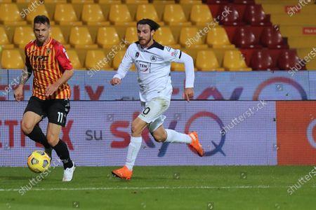 Christian Maggio (Benevento Calcio) and Simone Bastoni (Spezia Calcio)