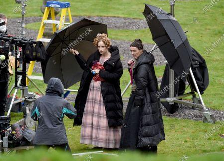 Editorial picture of 'Gentleman Jack' TV show on set filming, Shibden Hall, Yorkshire, UK - 03 Nov 2020