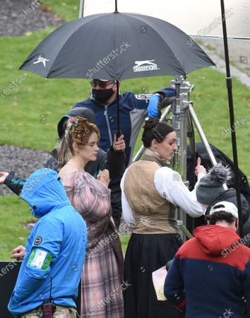 Stock Picture of Suranne Jones is pictured in her role of Anne Lister in the BBC drama Gentleman Jack alongside actress Sophie Rundle who plays wife Ann Walker.