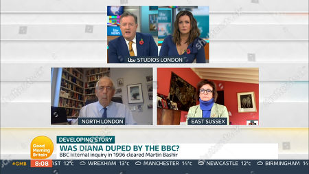 Piers Morgan, Susanna Reid, Rosa Monckton, Tom Bower
