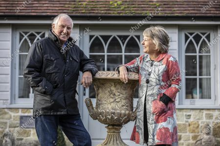 Stock Photo of Radio DJ Johnnie Walker and his wife Tiggy Walker, photographed outside their home