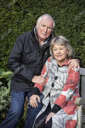 Stock Picture of Radio DJ Johnnie Walker and his wife Tiggy Walker, photographed outside their home