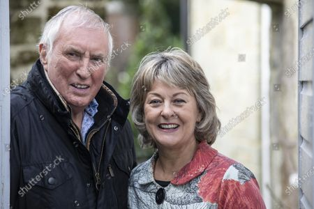 Radio DJ Johnnie Walker and his wife Tiggy Walker, photographed outside their home