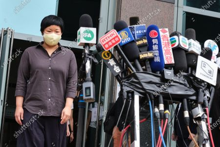 Bao Choy-yuk Ling, a freelance journalist who worked with Hong Kong's public broadcaster RTHK (Radio Television Hong Kong) on investigations into the July 21 Yuen Long mob attack, leaves the Fanling Magistrates' Court for a hearing. Choy was arrested for making a false statement related to her investigation into suspected persons involved in the Yuen Long mob attack for a RTHK TV documentary.