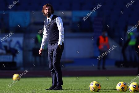 Andrea Pirlo head coah of Juventus before the match