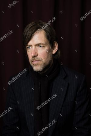 Portrait of English musician Ed O'Brien, guitarist with alternative rock group Radiohead, photographed at Assault & Battery Studios in London, on March 4, 2020. (Photo by Will Ireland/Total Guitar Magazine)