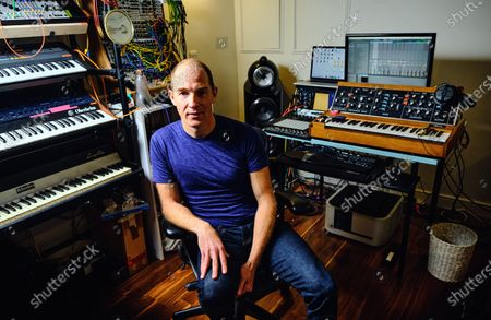 Portrait of Canadian musician Dan Snaith, better known by his recording name Caribou, photographed at his studio in London on January 7, 2020. (Photo by Kevin Lake/Future Music Magazine)
