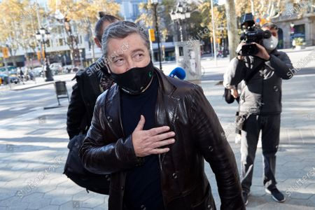 Chef Joan Roca arrives to attend a meeting with well-known chefs and entrepreneurs of the sector in Barcelona, Spain, 10 November 2020, in order to analyze how the coronavirus pandemic is affecting their sector, as restrictions in many Spanish regions order the closure of bars and restaurants.