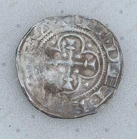 Editorial image of Silver penny of Baron Eustace Fitzjohn, Leeds, UK - 16 Oct 2020